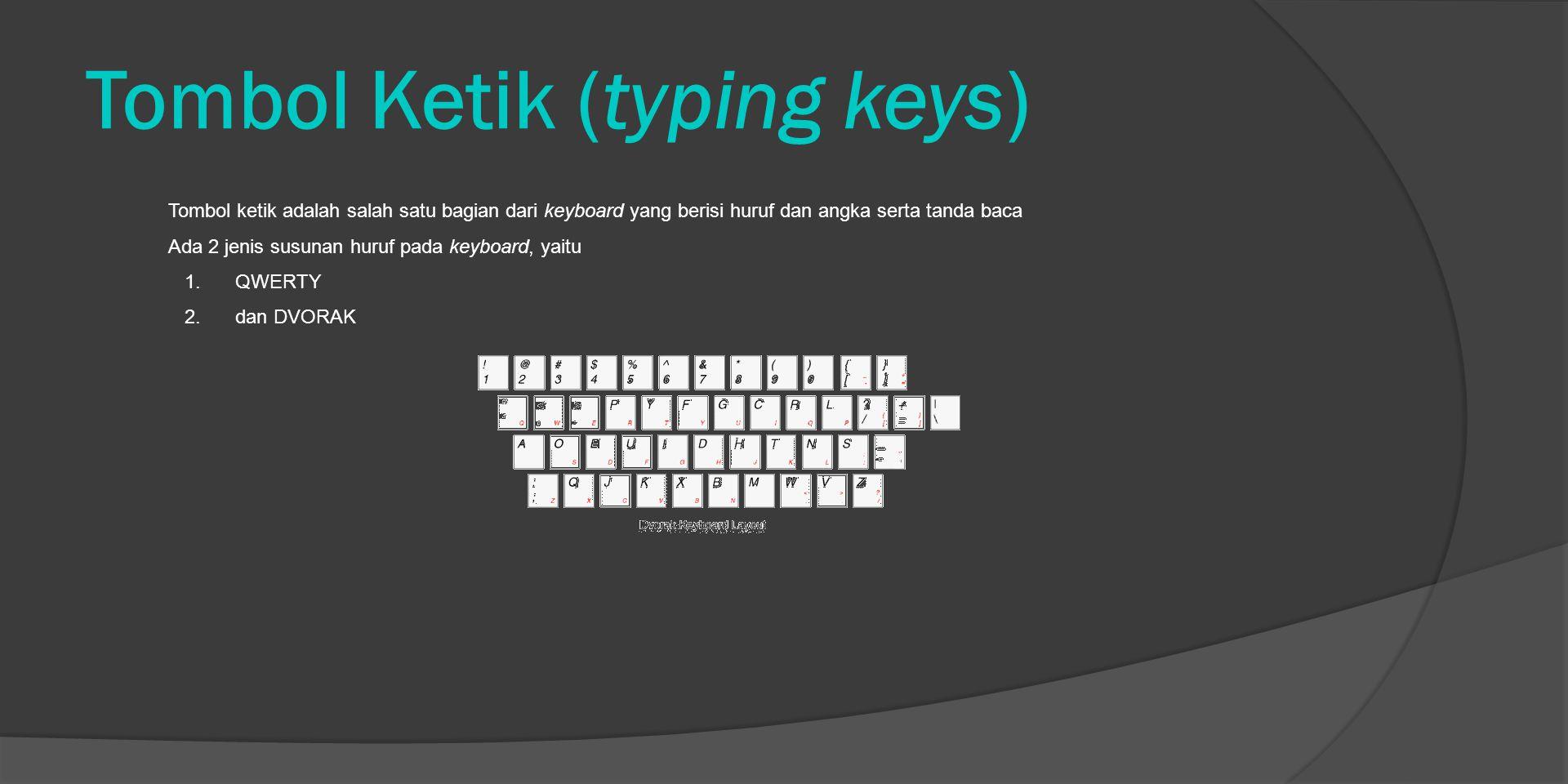 Tombol Ketik (typing keys)