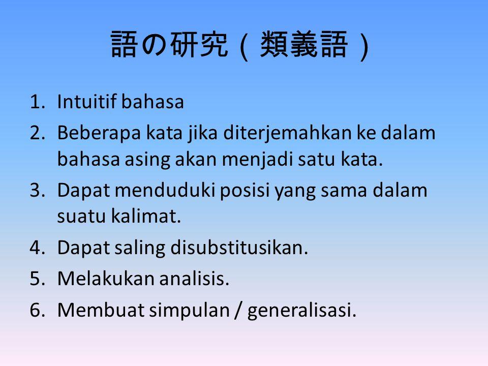 語の研究(類義語) Intuitif bahasa
