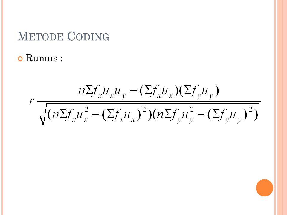 Metode Coding Rumus :