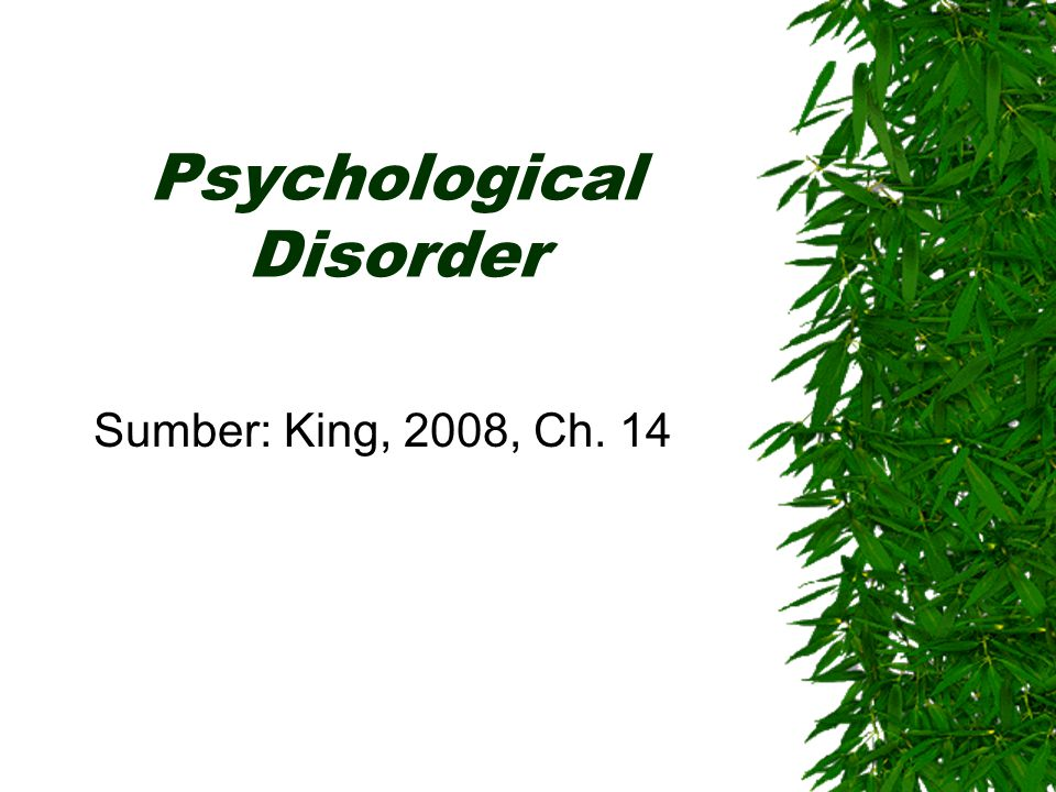 Psychological Disorder