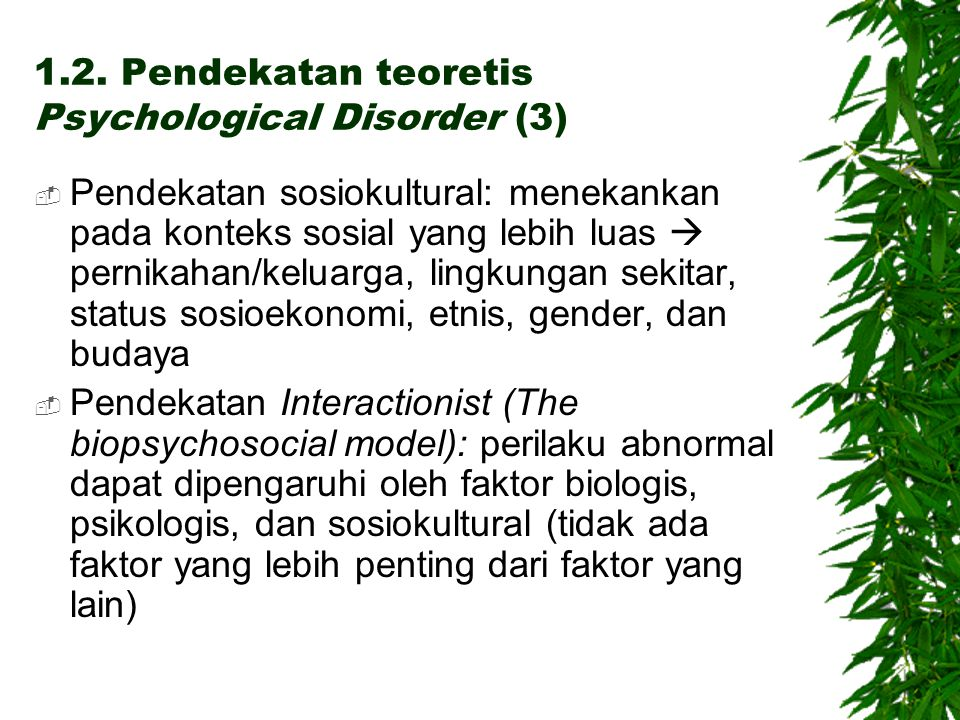 1.2. Pendekatan teoretis Psychological Disorder (3)