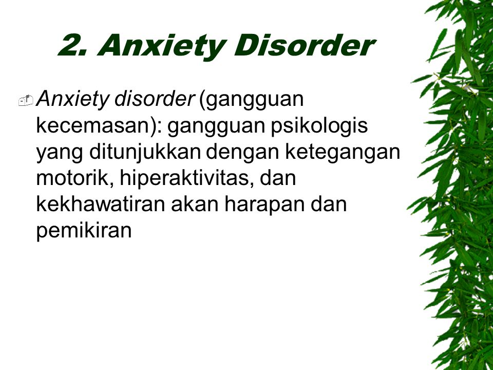 2. Anxiety Disorder