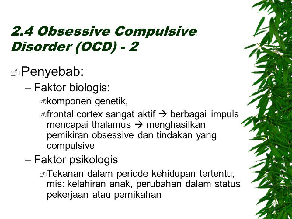 2.4 Obsessive Compulsive Disorder (OCD) - 2