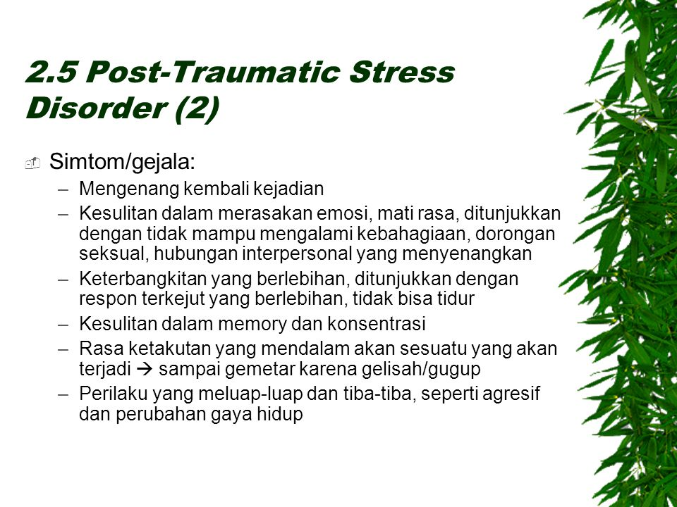 2.5 Post-Traumatic Stress Disorder (2)