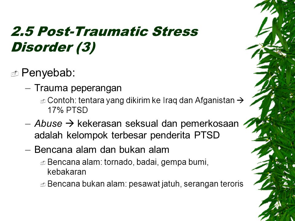 2.5 Post-Traumatic Stress Disorder (3)