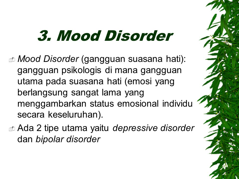 3. Mood Disorder