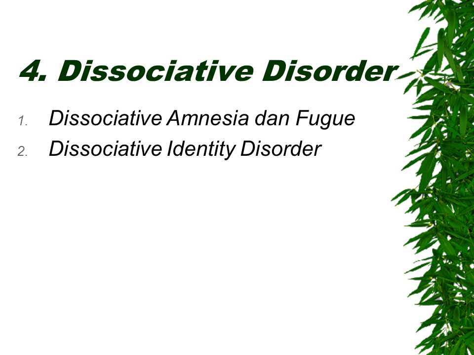 4. Dissociative Disorder