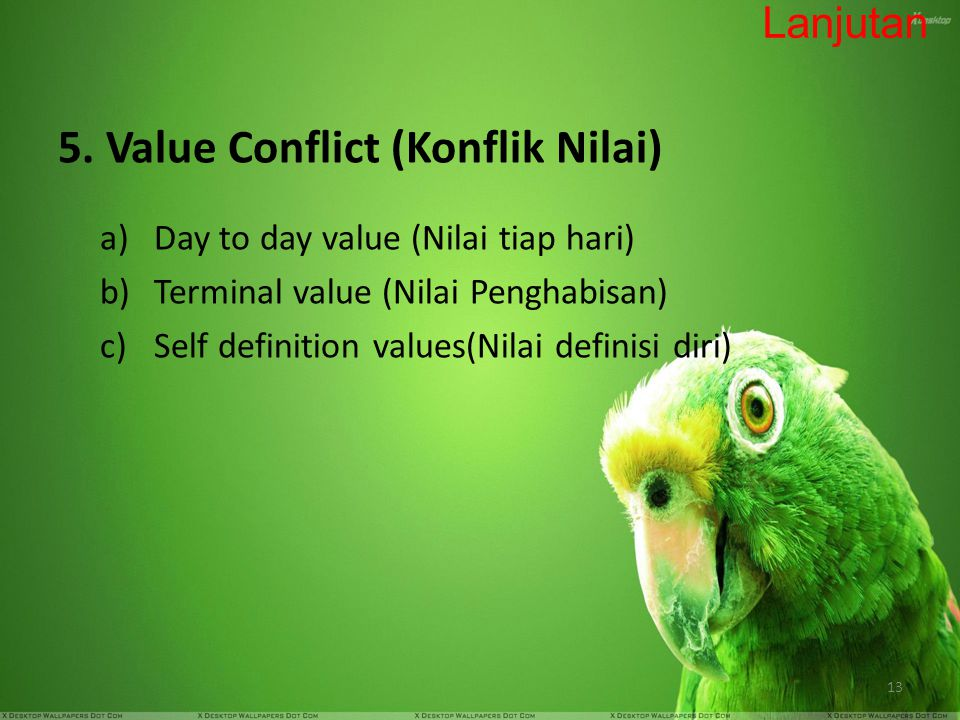 5. Value Conflict (Konflik Nilai)