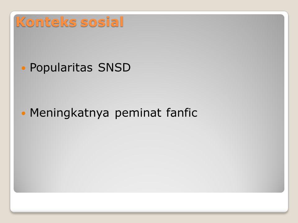 Konteks sosial Popularitas SNSD Meningkatnya peminat fanfic