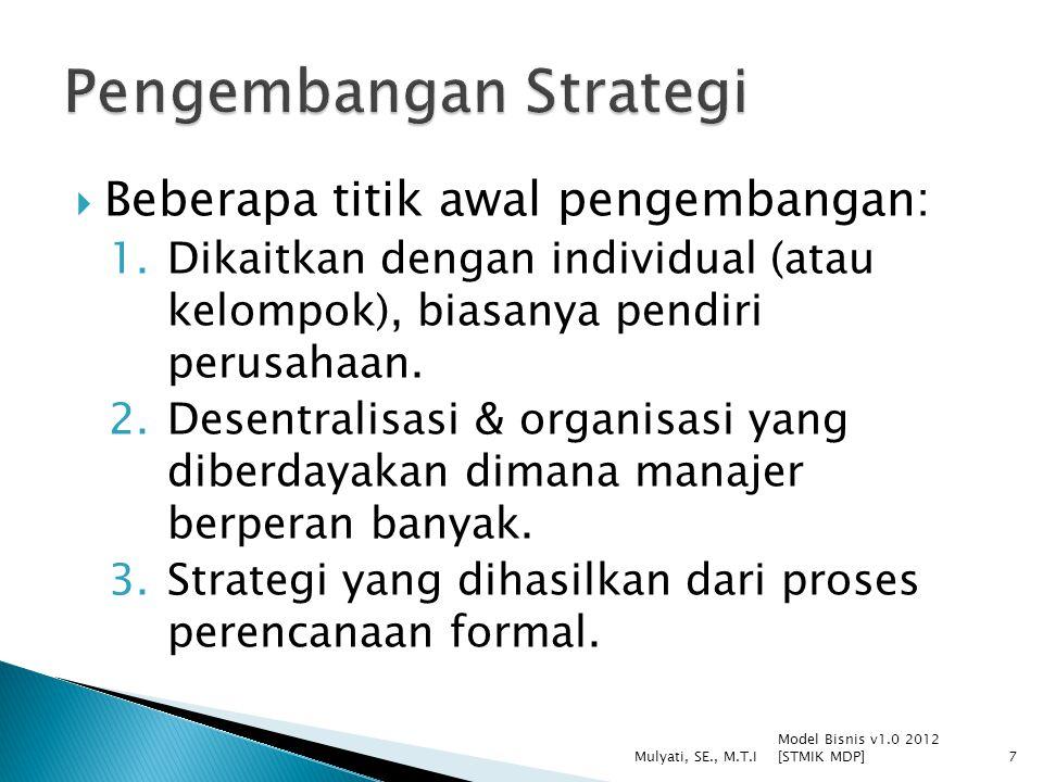 Pengembangan Strategi
