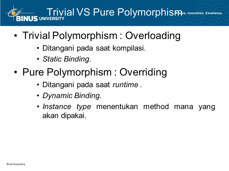 Trivial VS Pure Polymorphism