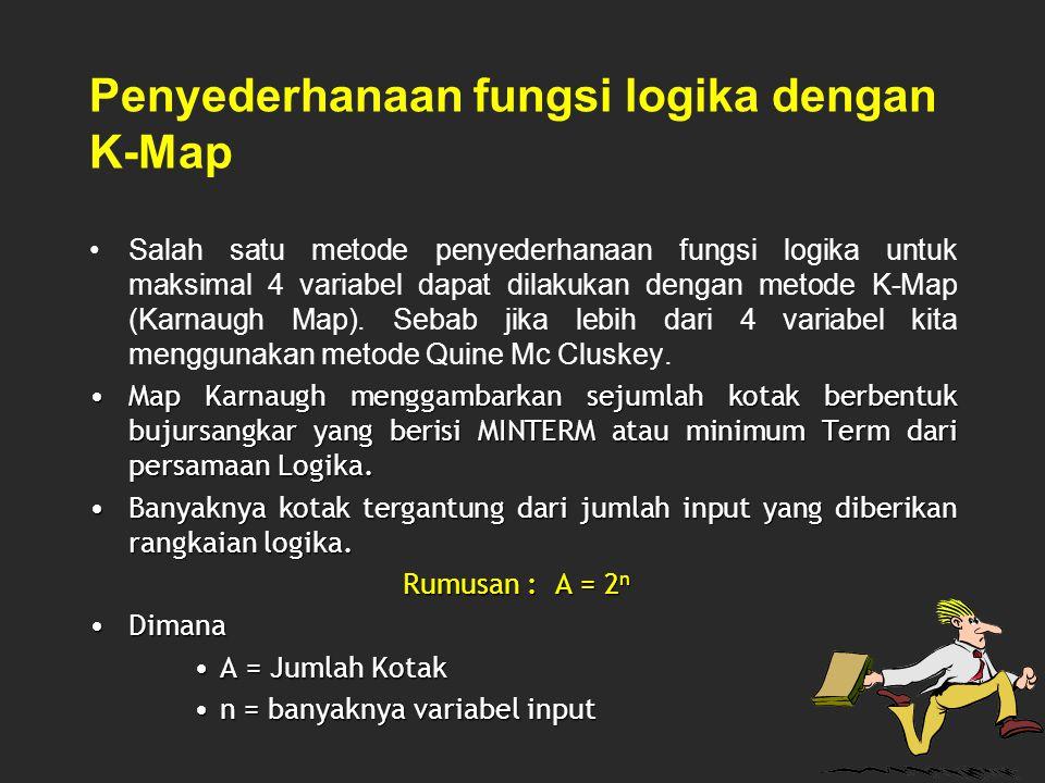 Penyederhanaan fungsi logika dengan K-Map