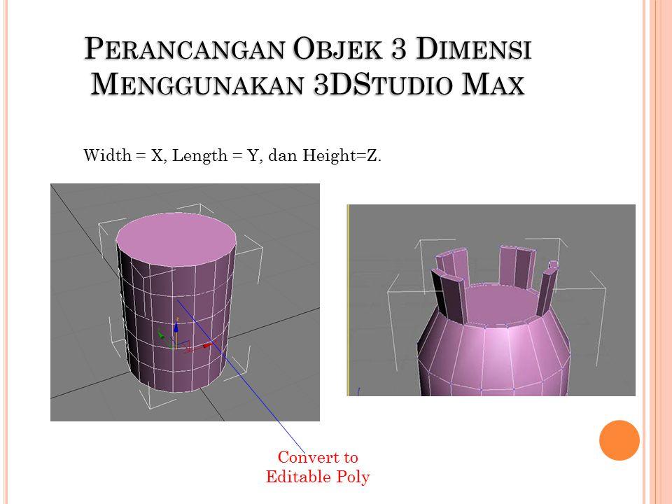 Perancangan Objek 3 Dimensi Menggunakan 3DStudio Max