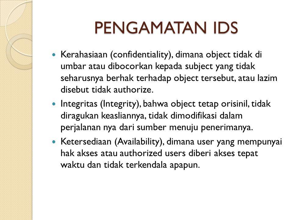 PENGAMATAN IDS