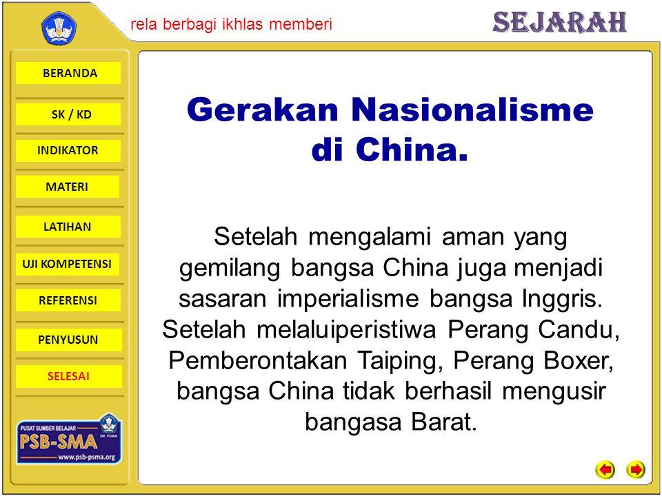 Gerakan Nasionalisme di China.