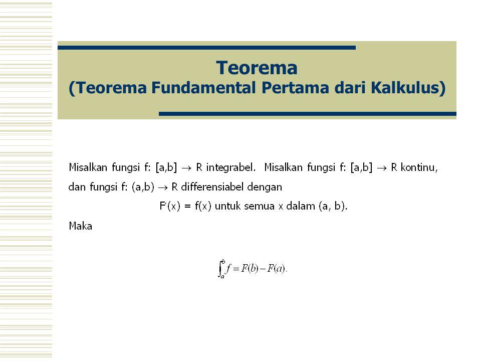 Teorema (Teorema Fundamental Pertama dari Kalkulus)