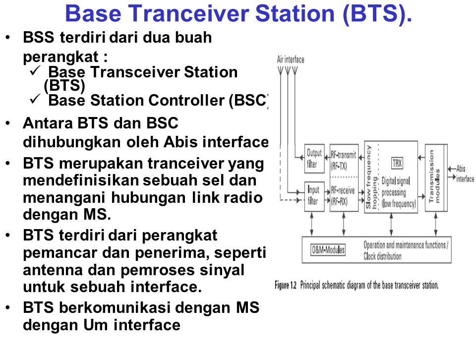 Base Tranceiver Station (BTS).