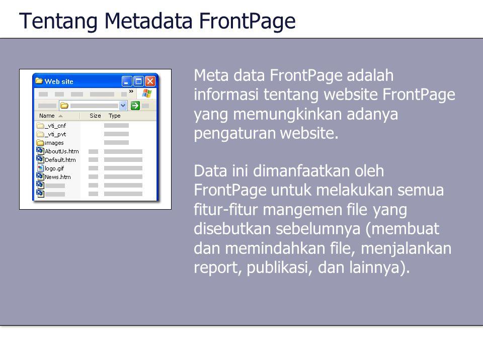 Tentang Metadata FrontPage