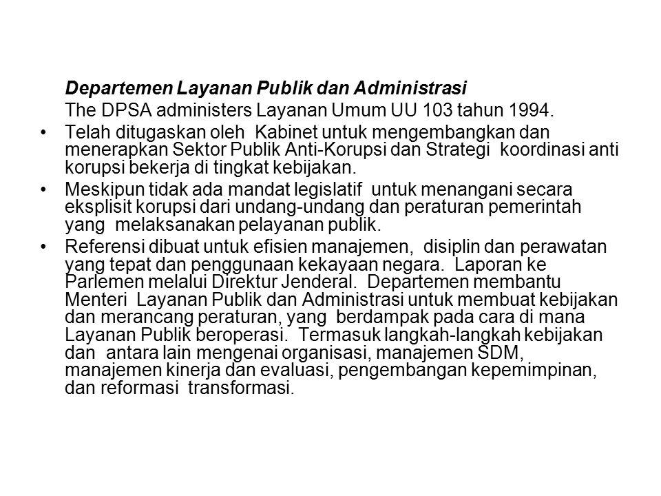 Departemen Layanan Publik dan Administrasi