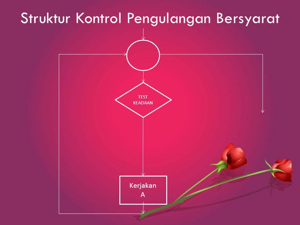Struktur Kontrol Pengulangan Bersyarat