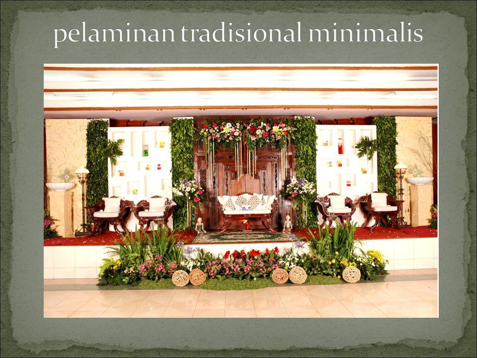 pelaminan tradisional minimalis