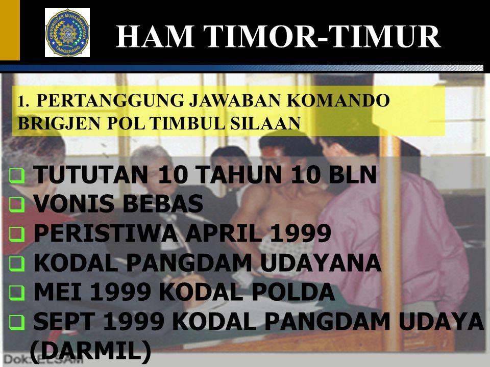 HAM TIMOR-TIMUR TUTUTAN 10 TAHUN 10 BLN VONIS BEBAS