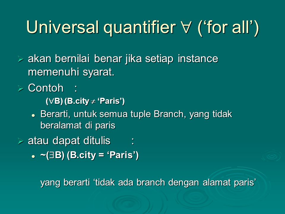 Universal quantifier  ('for all')
