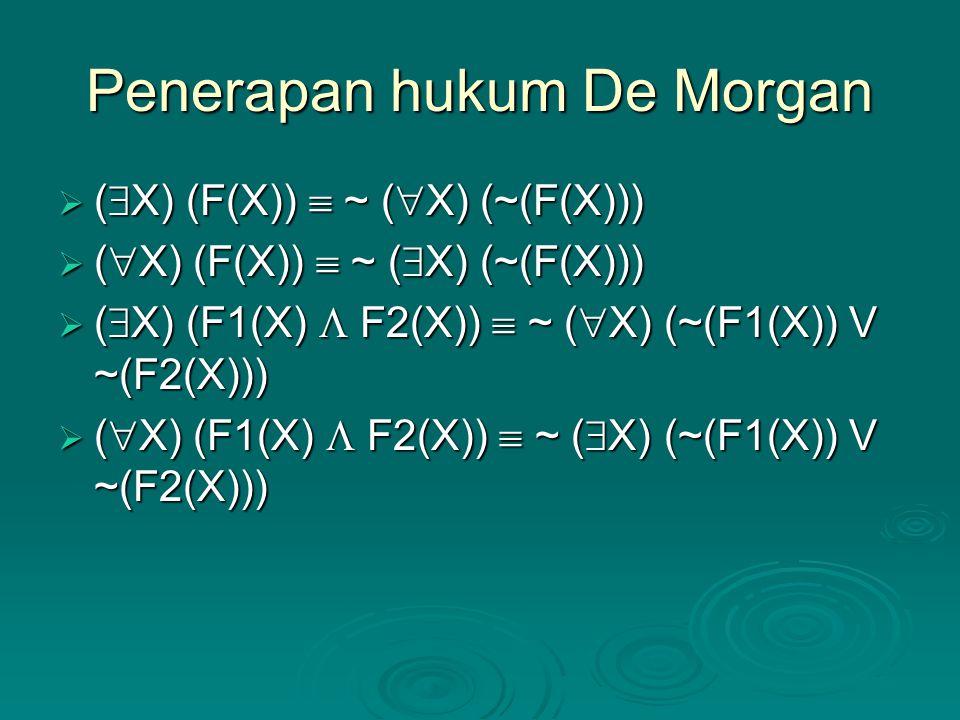 Penerapan hukum De Morgan