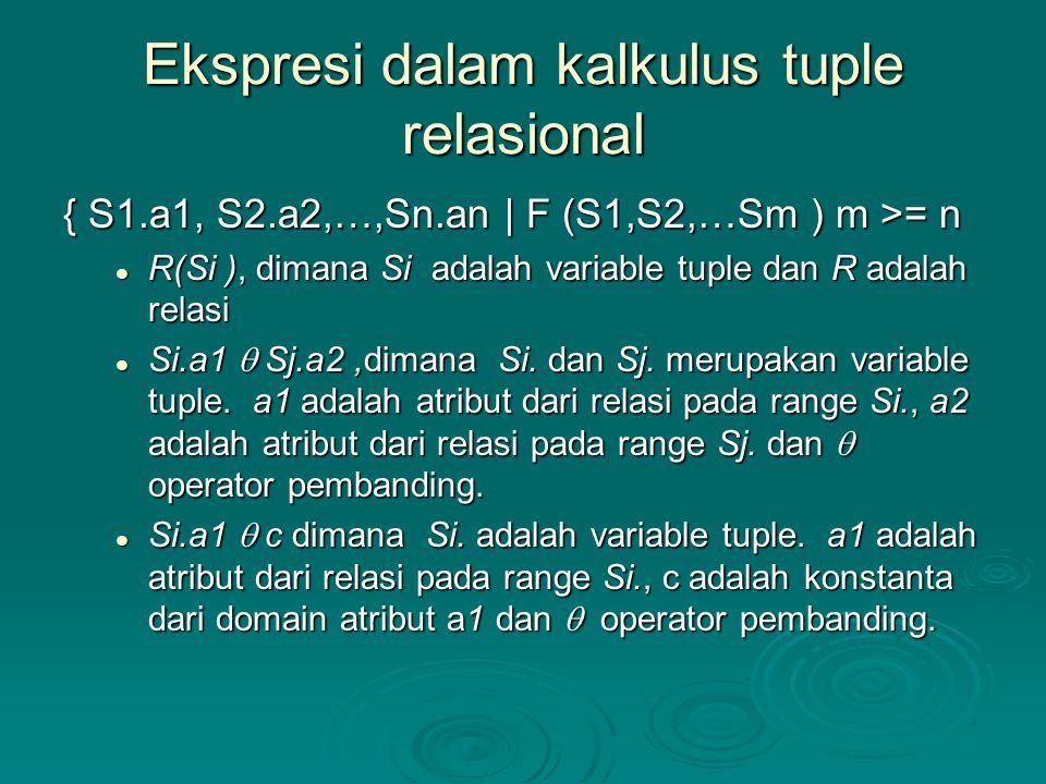 Ekspresi dalam kalkulus tuple relasional