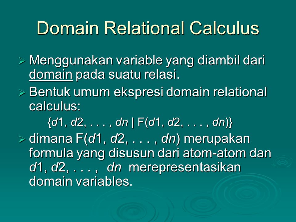 relational calculus Relational calculus:we have already seen relational algebra is a procedural language, in which user has to write the steps or procedure to obtain the required results but in general a user should not have to be concerned with.