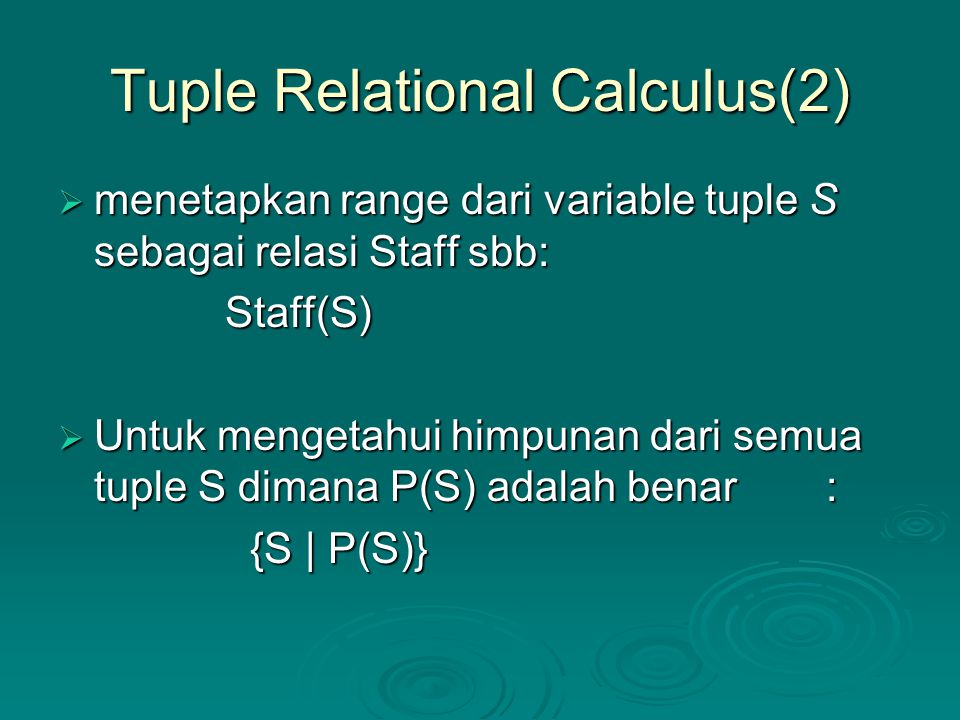 Tuple Relational Calculus(2)