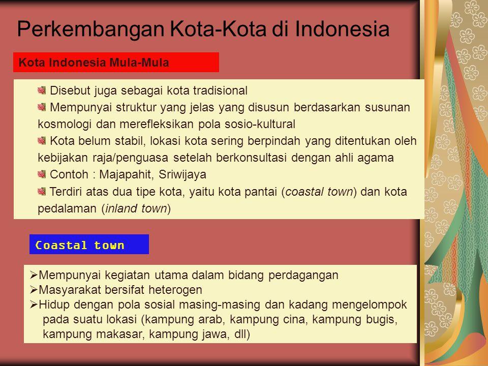Perkembangan Kota-Kota di Indonesia