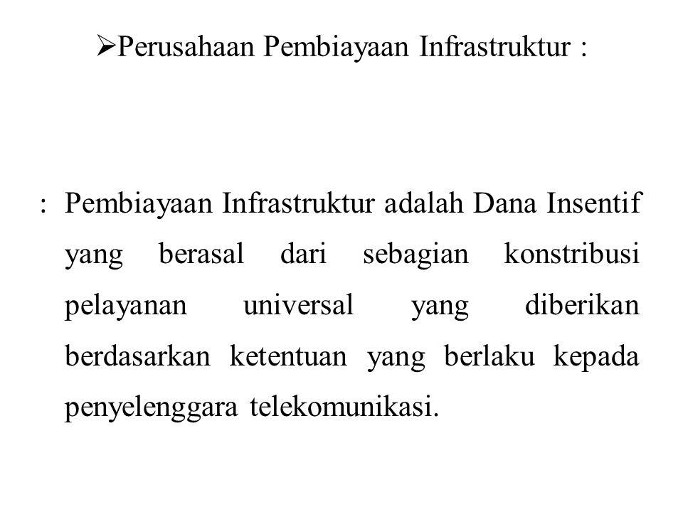 Perusahaan Pembiayaan Infrastruktur :