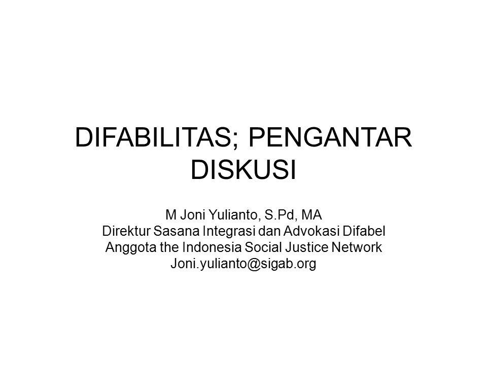 DIFABILITAS; PENGANTAR DISKUSI