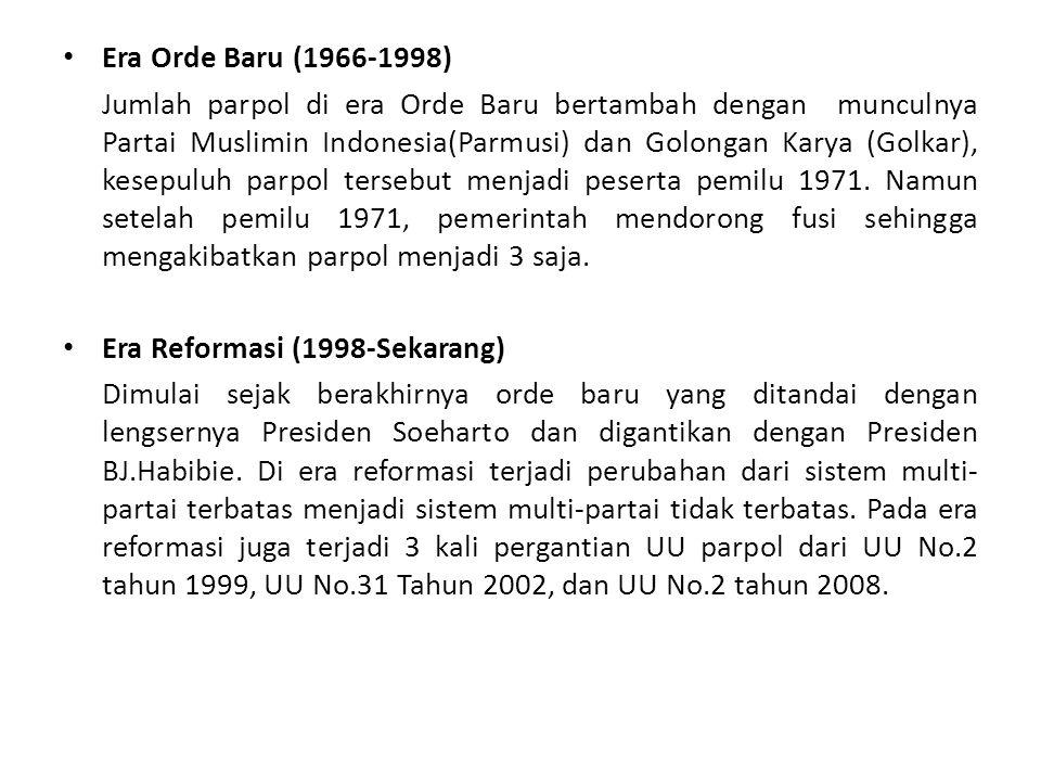 Era Orde Baru (1966-1998)