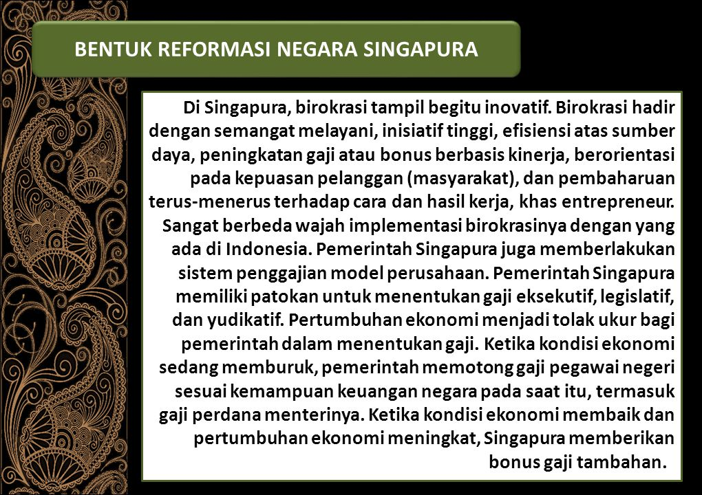 BENTUK REFORMASI NEGARA SINGAPURA