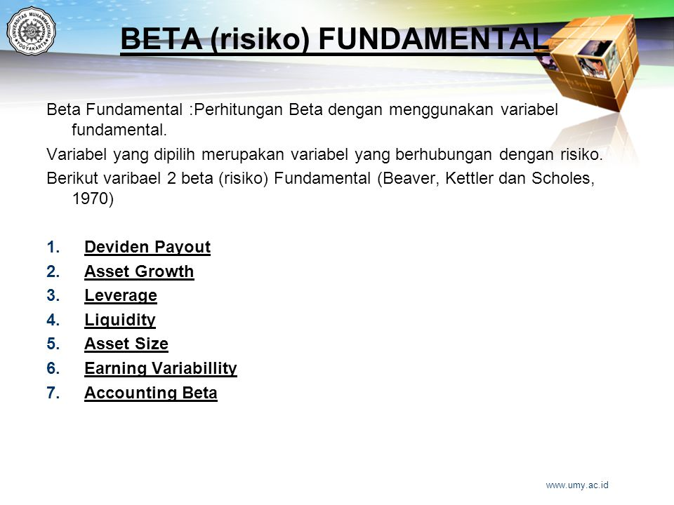 BETA (risiko) FUNDAMENTAL