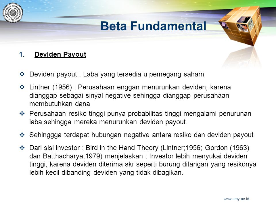 Beta Fundamental Deviden Payout