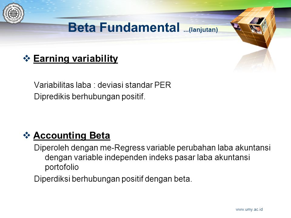 Beta Fundamental ...(lanjutan)