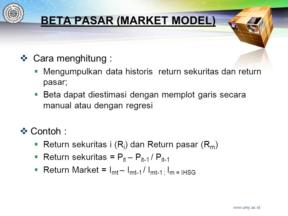 BETA PASAR (MARKET MODEL)