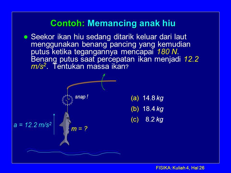 Contoh: Memancing anak hiu