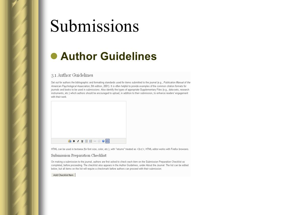 Submissions Author Guidelines