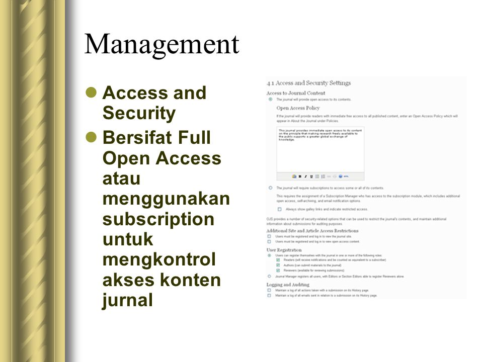 Management Access and Security