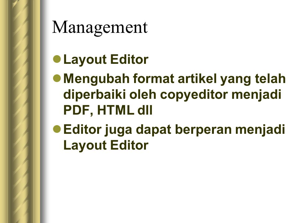 Management Layout Editor