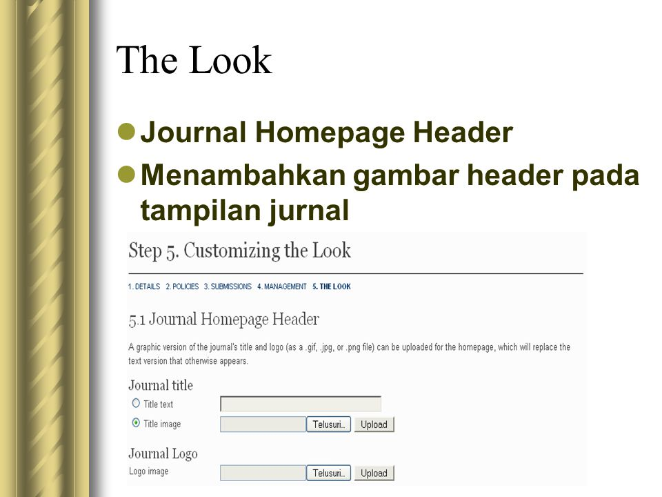 The Look Journal Homepage Header