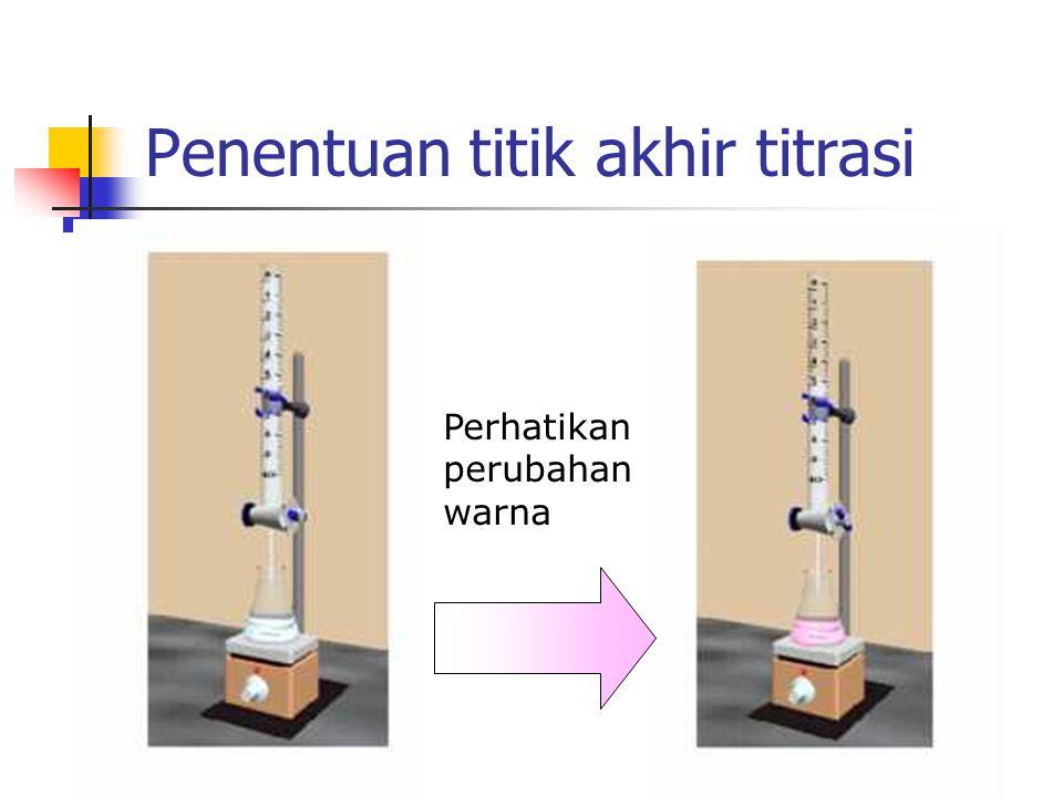 Penentuan titik akhir titrasi