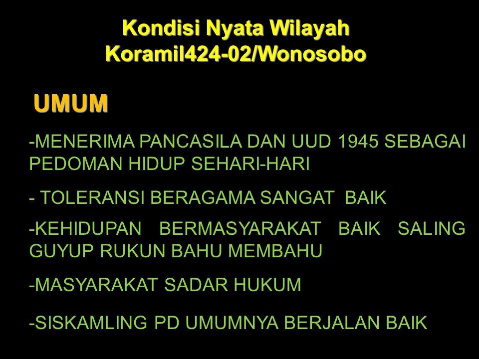 Kondisi Nyata Wilayah Koramil424-02/Wonosobo
