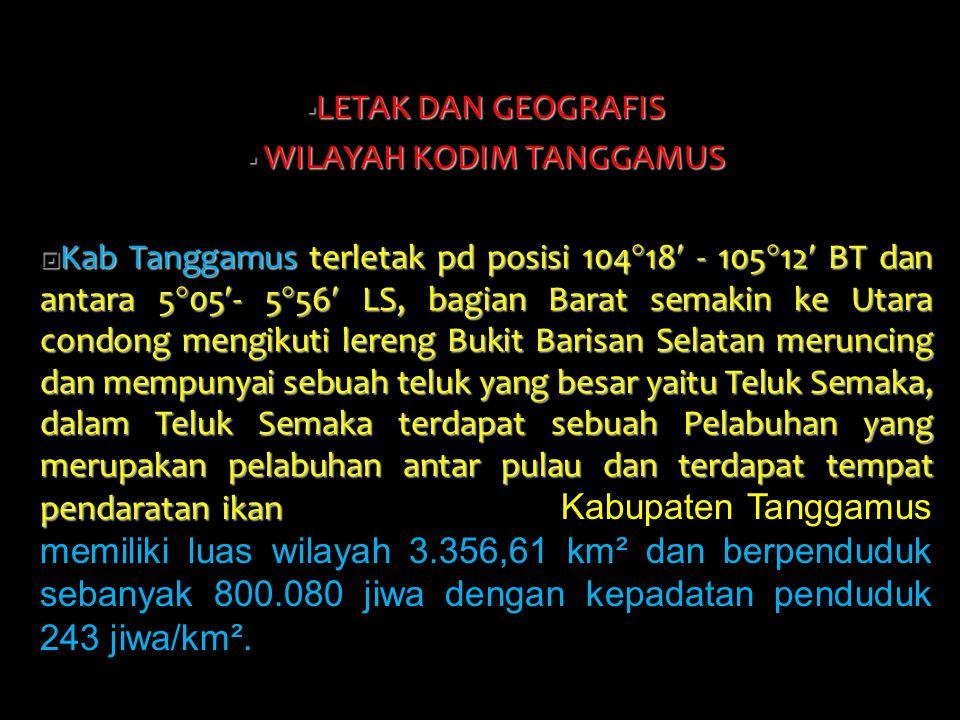 WILAYAH KODIM TANGGAMUS