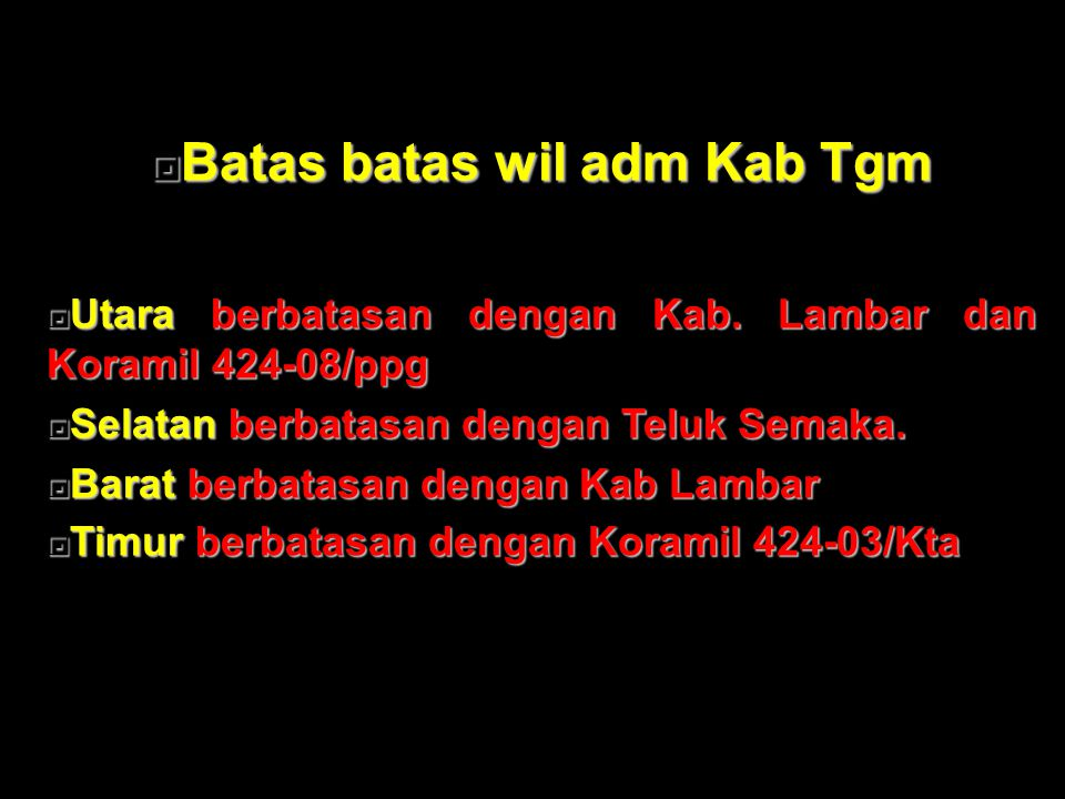 Batas batas wil adm Kab Tgm