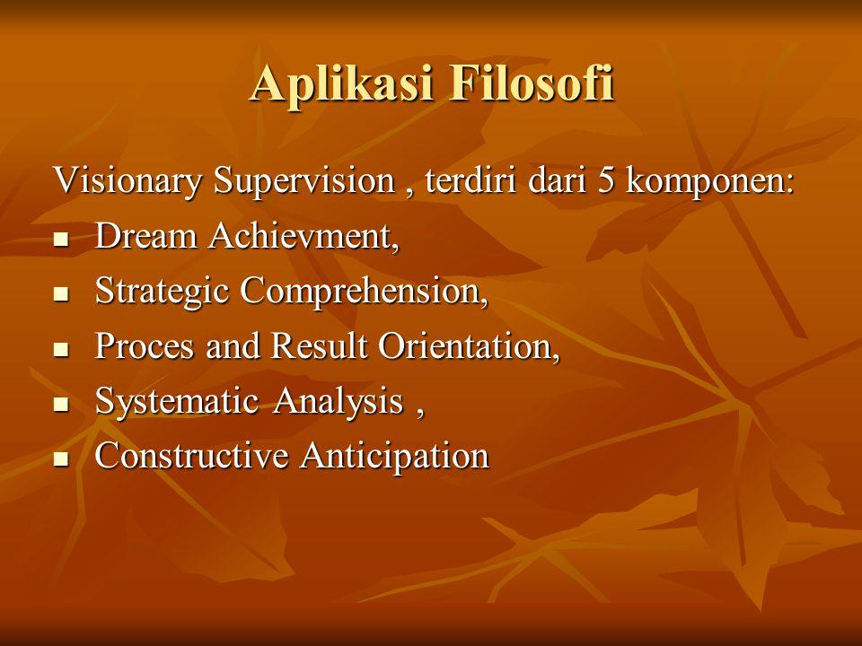 Aplikasi Filosofi Visionary Supervision , terdiri dari 5 komponen: